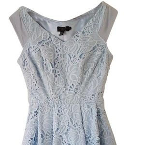 Baby Blue  Light Lace Fit& flare Wedding Races 6